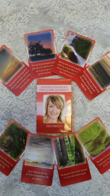 Inspirationskort för glädje och kraft, budskap