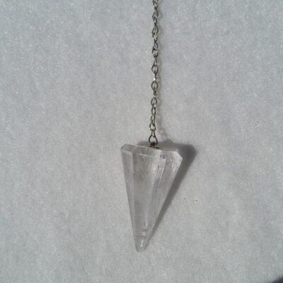facettslipad pendel bergskristall