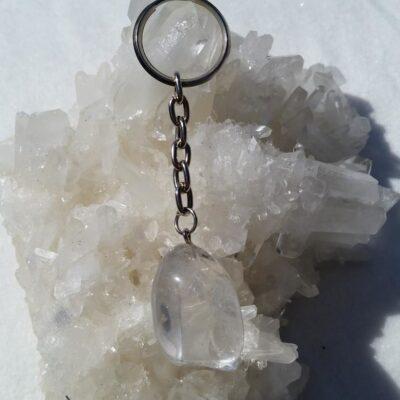 nyckelring bergskristall