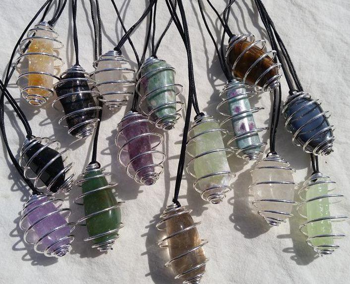 spiralhalsband kristaller bur halsband