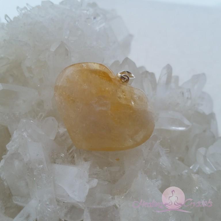 hjärta hänge citrin