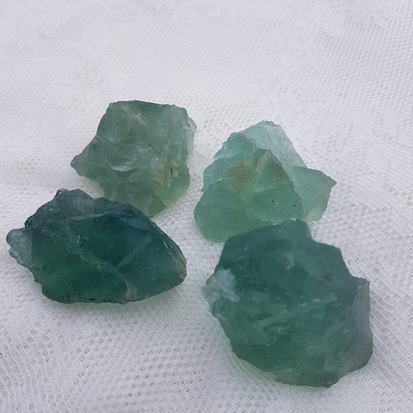 grön fluorit kluster större
