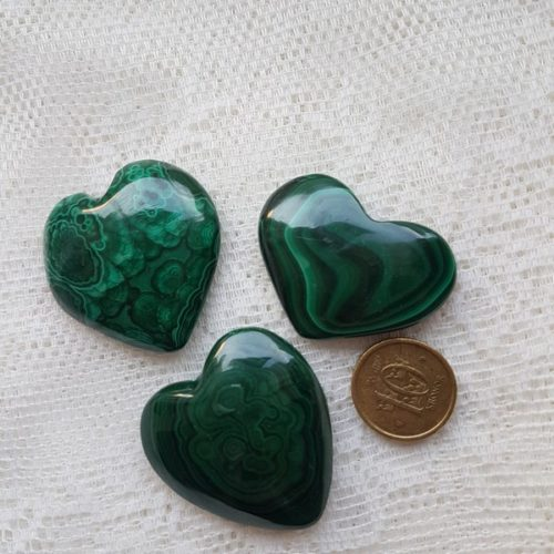 hjärtan i malakit större