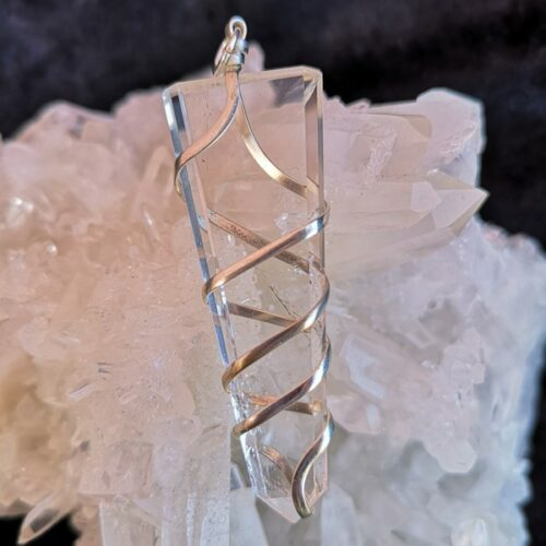bergkristall halsband