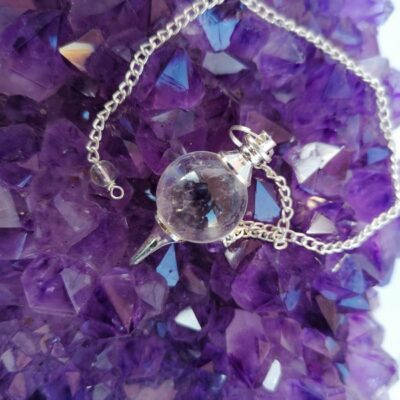 pendel bergkristall rund