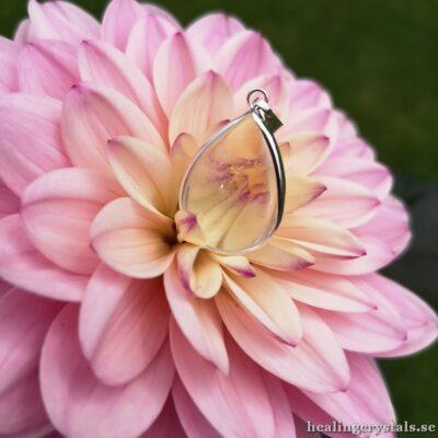 droppe bergkristall halsband