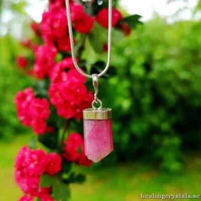 hänge till halsband rosa turmalin