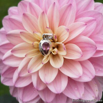 Fasettslipad Rosa Turmalin halsband