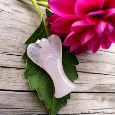 skyddsängel ängel rosenkvarts halsband
