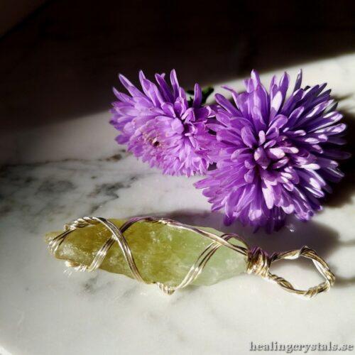 grön kalcit halsband