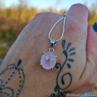 halsband rosa morganit