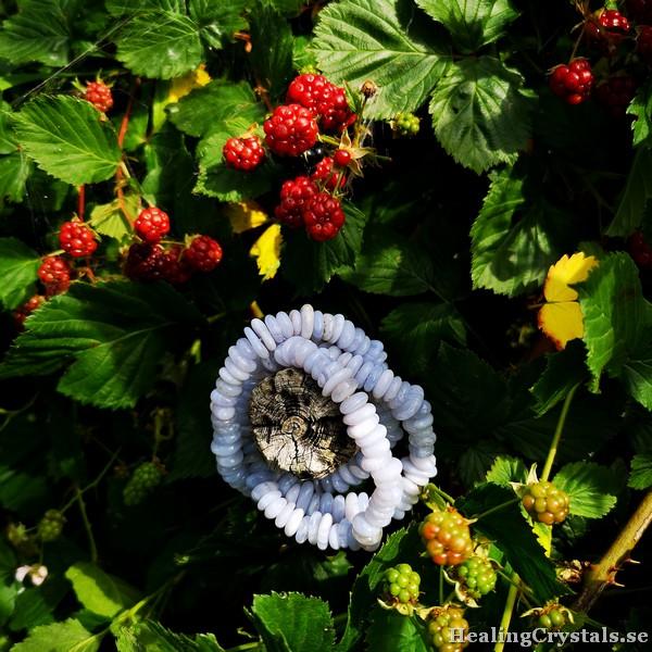 armband blåbandagat agat
