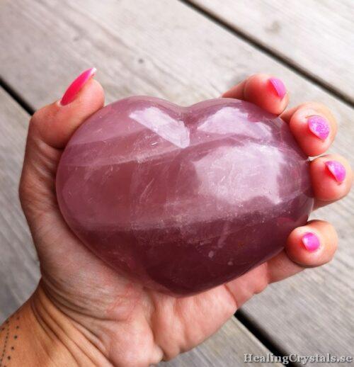 hjärta i rosenkvarts