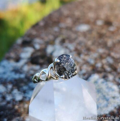 silver ring turmalin kvarts