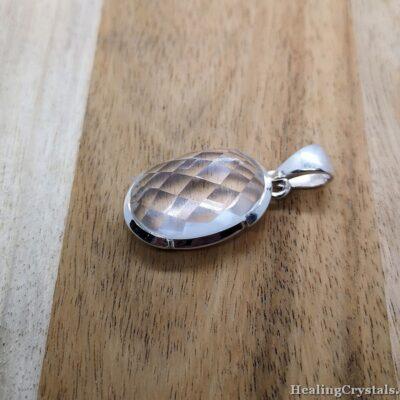 bergkristall halsband silversmycken