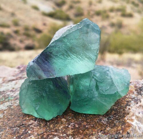 fluorit råa kristaller