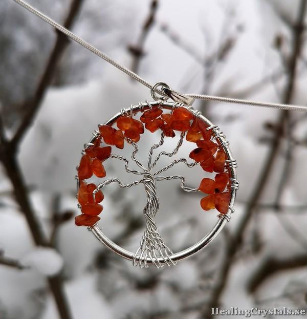 livets träd karneol
