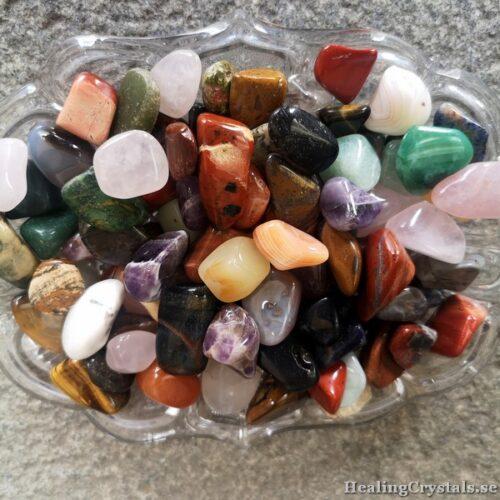 trumlade stenar och kristaller