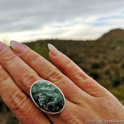 seraphinite silverring