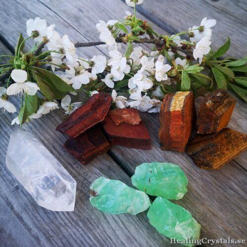 råstenar, stenar kristaller
