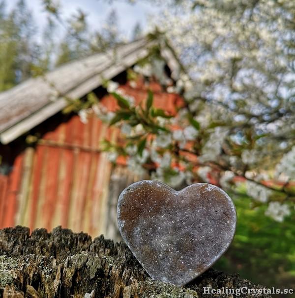 hjärta drusy agat