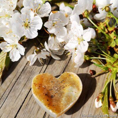 druzy agat hjärta