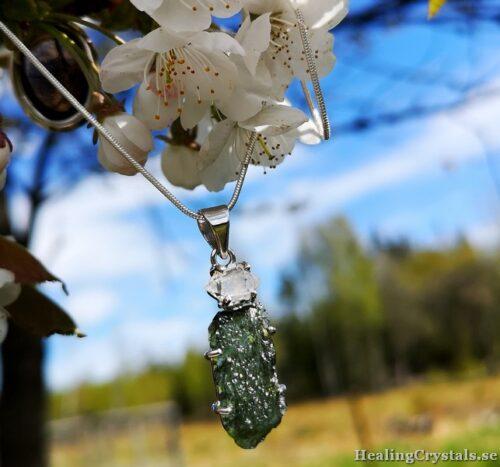 moldavit med herkimer diamant