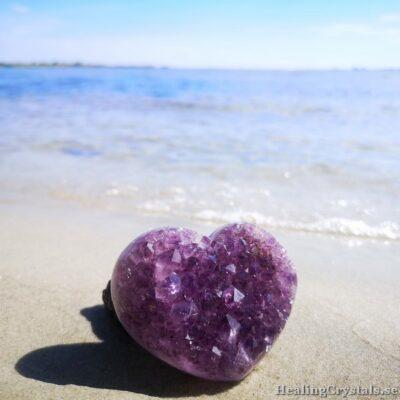 ametist kluster hjärta