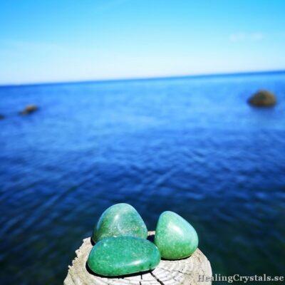 trumlad grön aventurin