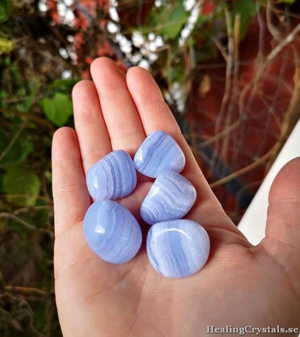 blå bandagat kalcedon