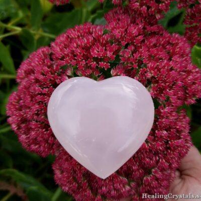 hjärta rosa kalcit