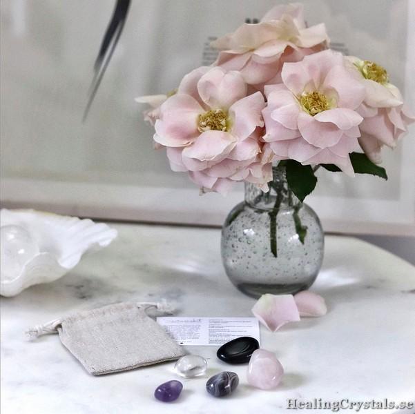 sovrumskit ametist rosenkvarts agat