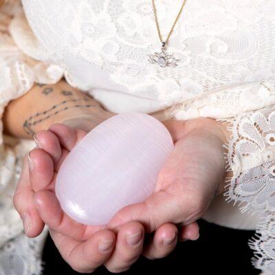 stressten meditationsten kristaller rosa kalcit